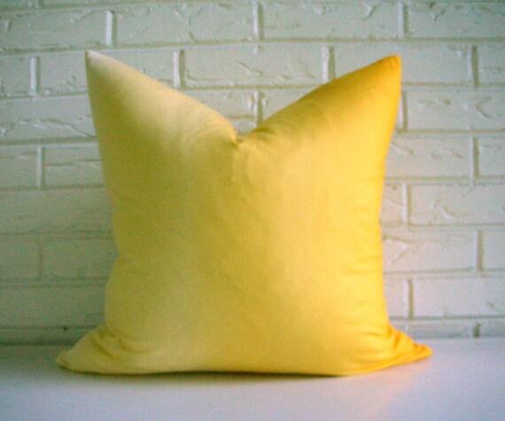 Yellow Ombre Pillow Cover - Modern Throw Pillow - Yellow Gradation - Kids Room Decor