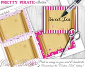 Pirate Party For Girls Candy Buffet Signs by Cutie Putti Paperie