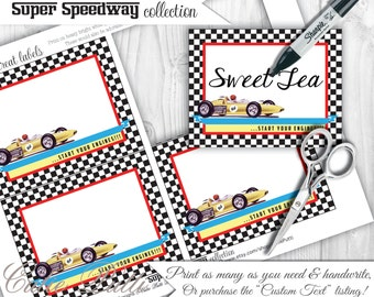 Race Car Party Candy Buffet Signs by Cutie Putti Paperie