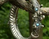 Antique Tribal Silver Chinese Dog Bracelet
