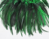 green Feathers saddle badger QTY 50  asb-01