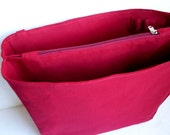 Medium Bag organizer / Purse organizer in Merlot fabric- Inverted trapezoid shape
