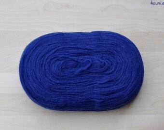 Thin Wool Pencil Roving/Pre-Yarn, Spinning, Felting or Knitting Fiber, Dark Blue