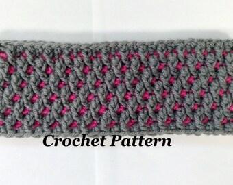 CROCHET PATTERN: Rosa Ridge Crochet Headband Pattern, Crochet Earwarmer Pattern, Women Headband Pattern, Teen Earwarmer Pattern,