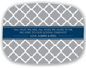 Personalized Platter - Wedding Gift for Mom and Dad - Mother of Bride - Thank you Gift to Parents of Bride and Groom