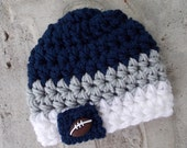 Dallas Cowboys inspired baby hat - sports props - team sports - made to order