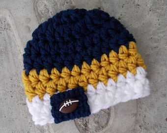 St. Louis Rams inspired baby hat - team sports - sports props - made to order