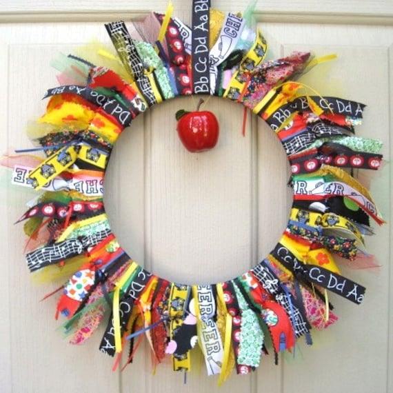 Thanksgiving Classroom Door Decoration Ideas ~ Back to school wreath teacher classroom