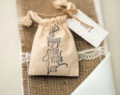 All Things Grow With Love - Wildflower Seed Sack
