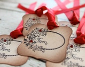 Vintage Inspired Holiday Gift Tags  - Set of 5