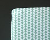 Mint triangles crib sheet - Mint- gender neutral - nursery fitted sheet- toddler bed sheet