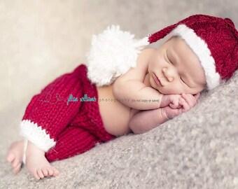 Newborn santa hats, baby santa hats, christmas props, santa hats, baby boy hats, baby girl hats, santa photo props, photography props
