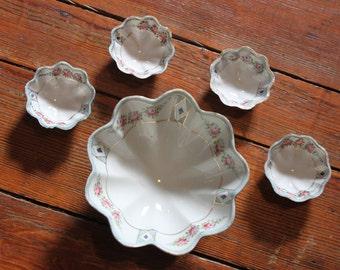 Vintage Decor... Vintage Floral China Bowl Set