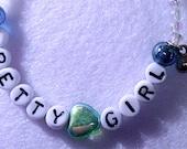 Gifts for Girls, Letter bracelet, Pretty Girl, Beaded Bracelets for Children,Alphabet letters, jewelry bracelet, heart, birthday gift
