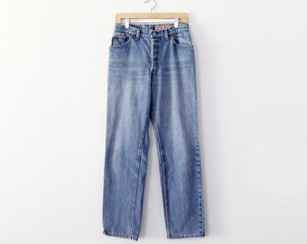 vintage Levis high waist jeans,  1980s Shrink to Fit Levis,  waist 30