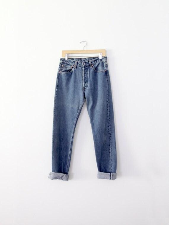 vintage levis 501 jeans 80er jahre levis denim taille 31. Black Bedroom Furniture Sets. Home Design Ideas
