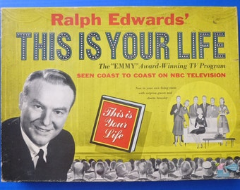 "1950s ""This Is YOur Life"" TV Show Board Game"