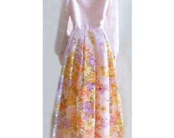 1960's or 70's Mod Fancy Summer Maxi Dress, maybe a Wedding Dress