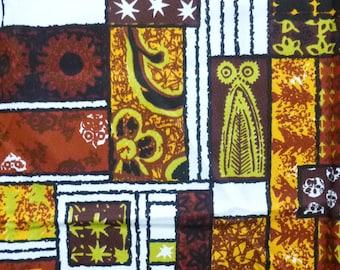 1060's Designer Tiki Cloth - Makaha Print M1007