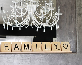 Scrabble Rack (for 7 large scrabble letter tiles)