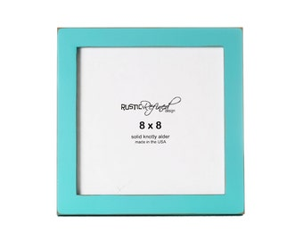 "8x8 Gallery 1"" picture frame - Turquoise"