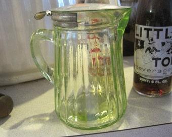 Green Anchor Hocking Syrup Dispenser
