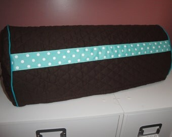 Cricut Expression  Quilted Double Dust Cover Brown & Teal  polka  Dot