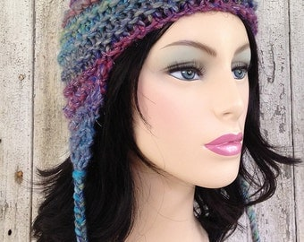 Chunky Funky Multicolor Earflap Hat
