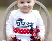 "SPORTS ""TEAM SPIRIT"" ... Support Your Team...2Pc. Long Sleeve Bodysuit for Baby Girl or Toddler"