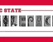 North Carolina State Wolfpack Alphabet Photo Collage