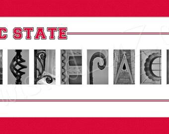 North Carolina State Wolfpack Alphabet Photo Collage