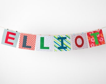 Fabric Letter Banner ~ Happy Birthday Banner ~ Photo Prop in the ELLIOTT Collection