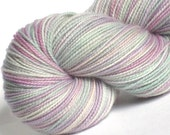 Sock Yarn Sweet Pea hand dyed 80/20 superwash merino/ nylon sock / fingering weight yarn