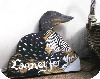 Looney for you- Wooden Loon Cut-Out - perfect for decorating your romantic lakeside getaway!