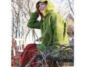 Green oversized poncho style hoody , sweater