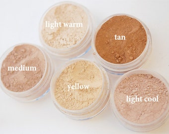 Mineral Powder Foundation, You Choose, Finishing Powder, Light Coverage, Mineral Power