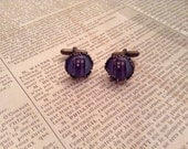 DOCTOR WHO TARDIS Bronze Crownlike setting Cufflinks and glass Perfect for your hubby, dad, son, or wedding
