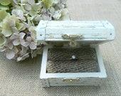 wedding ring box Ring Bearer Wedding chest box  Wedding Ring Box Hand painted  Shabby Chic fpnewstar