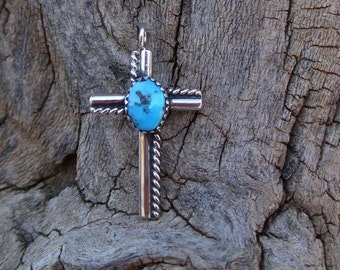 Kingman Turquoise Nugget Cross