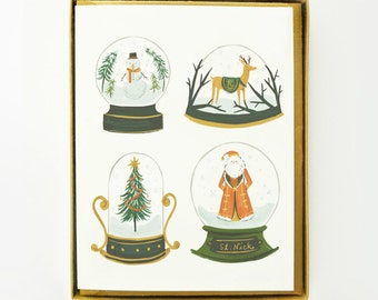 Snow Globe Christmas Card 8pcs