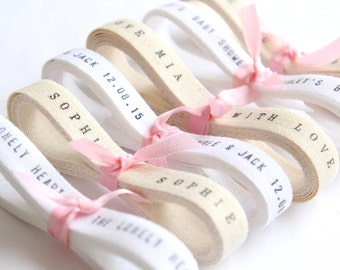 2 Yards Twill Ribbon w/ Your Words . holiday ribbon . favor ribbons . gift ribbon . cotton twill unbleached twill ribbon white twill ribbon