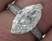 3.33ct H IF Gorgeous Marquise in a Beautiful Platinum Micro Pave Mounting