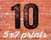 10 PRINTED INVITATIONS 5x7 and white envelopes