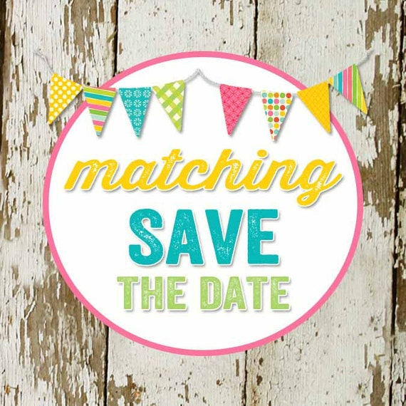 SAVE the DATE to match any invitation for baby shower or bridal shower, digital, DIY printable file