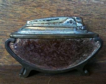 Vintage English Table Top Lighter circa 1920-40's / English Shop