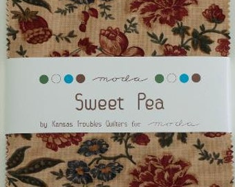 Sweet Pea Charm Pack by Kansas Troubles Quilters for Moda