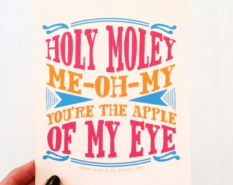 You're the Apple of My Eye - Edward Sharpe & the Magnetic Zeros  // Small Desk Print