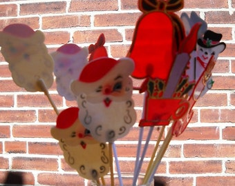 10 tall plastic holiday picks