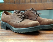 Vintage 90s Brown Oxfords - Thick Rubber Soles