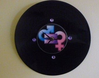 Equality For All Recycled Vinyl Record/CD Clock Wall Art